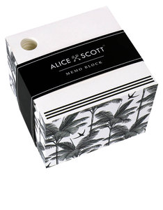 Alice Scott Memo Block Black & White Pad