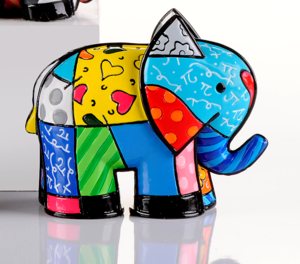 Romero Britto Mini India Elephant Figurine