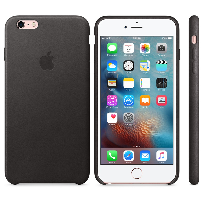 Apple Leather Case Black iPhone 6S Plus