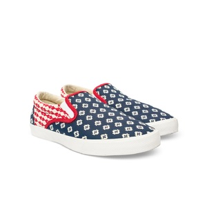Bucketfeet The Republic Navy/Red Low Top Men's Canvas Slip-Ons