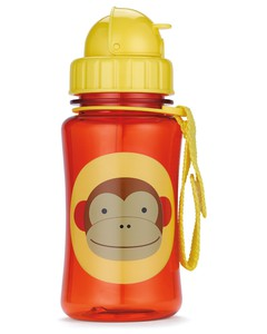 Skip Hop Zoo Straw Kids Water Bottle Monkey 350ml