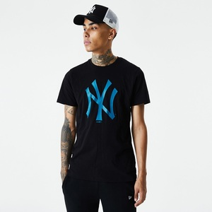 New Era MLB Seasonal Team Logo NY Yankees Men's T-Shirt Black