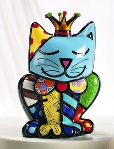 Romero Britto Royalty Cat Figurine