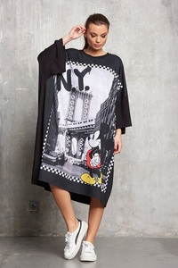 Sugarbird Mickey Mouse Demo NY Printed Dress