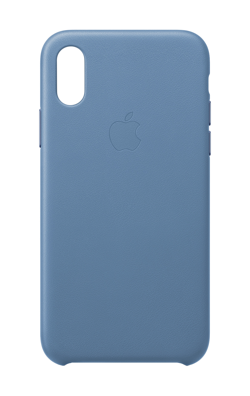 new styles 3bc69 7274d Apple Leather Case Cornflower for iPhone XS | Cases & Protectors ...