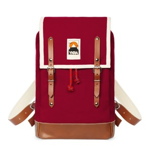 Ykra Matra Mini Leather Strap Bordeaux Backpack