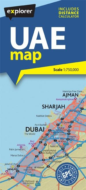 UAE Map [5th Edition] | Travel Guides | Travel + Languages | Books ...