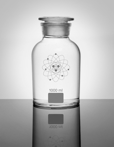 Jay Lab Apothecary Jar Clear White 1000ml