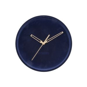 Karlsson Wall Clock Lush Velvet Dark Blue