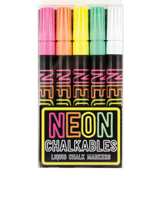 International Arrivals Neon Chalkables Liquid Chalk Markers [Set of 4]