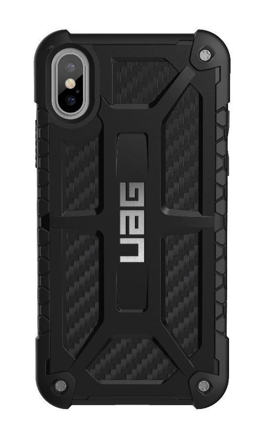 brand new 97006 251ad UAG Monarch Case Carbon Fiber With Silver Logo For iPhone X