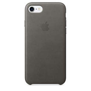 Apple Leather Case Storm Grey iPhone 7