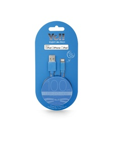 Yell Ba10L Blue 2.4A Lightning Cable 1M