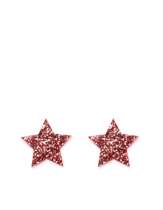 Little Moose Space Unicorn Glitter Pink Star Stud Earrings