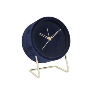 Karlsson Alarm Clock Lush Velvet Dark Blue