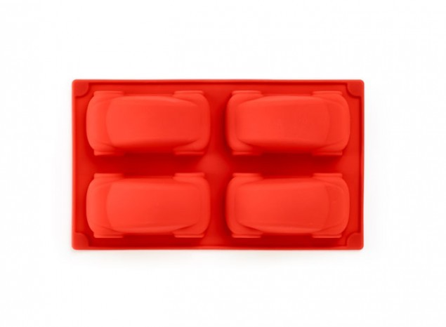 Lekue 4 Mini Car Cakes Red Baking Mould