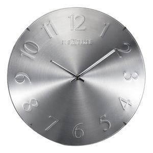 Nextime Elegant Dome Wall Clock Silver