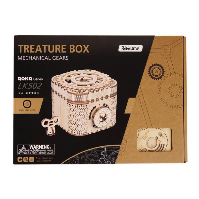 Robotime 3D Wooden Puzzle Treasure Box
