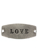 Small Sentiment Love Silver Necklace Buckle