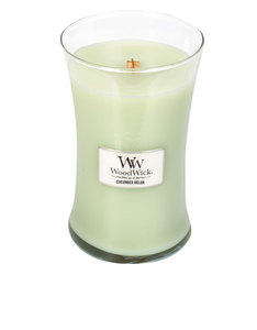 Woodwick Cucumber Melon White Large Candle