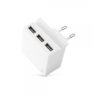 Usbepower Hide Mini White Wall Charger With Phone Stand