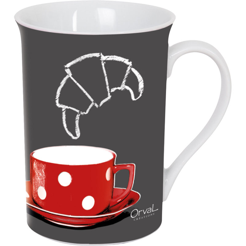 Orval Creations Design Rouge Ardoise Red Mug