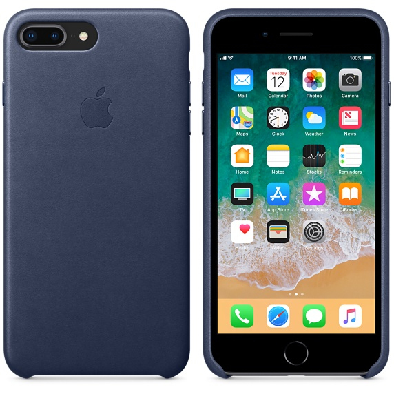 blue leather iphone 8 case