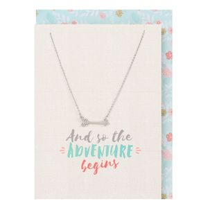 So The Adventure Begins Necklace & Card