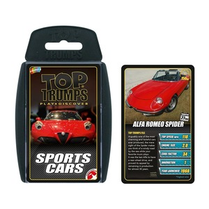Top Trumps Sports Cars Card Games English & Arabic