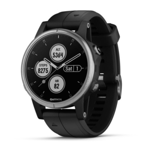 Garmin Fenix 5S Plus 42mm Sapphire/White with Grey Suede Band Smart Watch