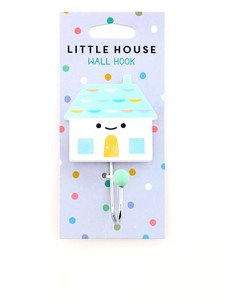 Petit Monkey Hook Little House Soft Aqua