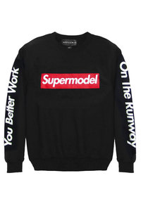 Alex & Chloe Supermodel Black/Red Unisex Jumper