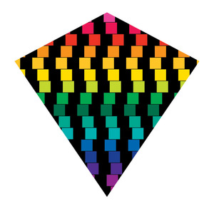 Xkites Color Max Nylon Diamond Cube Kite