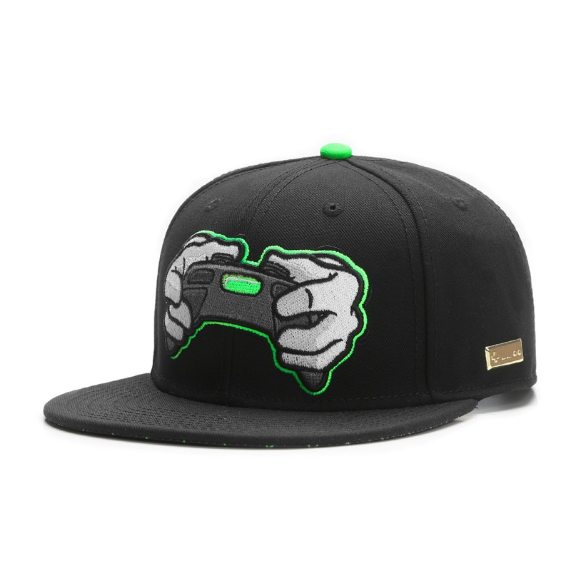 Hands Of Gold All Day Black Neon Green Cap  a32d2f21149b