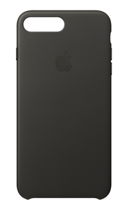 Apple Leather Case Charcoal Grey for iPhone 8 Plus/7 Plus