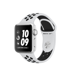 Apple Watch Nike+ 38mm Silver Aluminum Case With Pure Platinum/Black Nike Sport Band