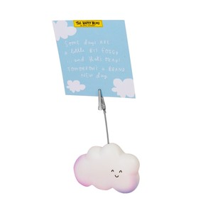 The Happy News Smiley Cloud Resin Clip Photo Holders
