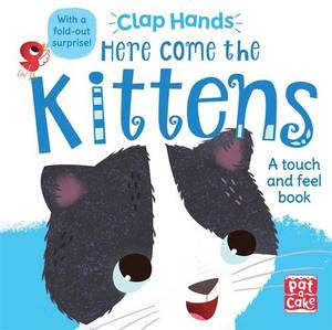 Here Come the Kittens: A Touch-and-Feel Board Book with a Fold-Out Surprise