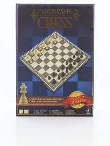Merchant Ambassador Classic Wood Chess Board Game