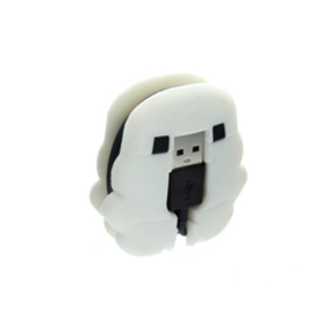 Star Wars Stormtrooper Cable Management With Micro USB Cable