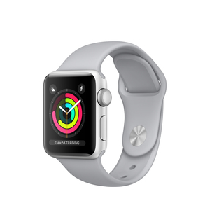 Apple Watch Series 3 38mm Silver Aluminum Case With Fog Sport Band