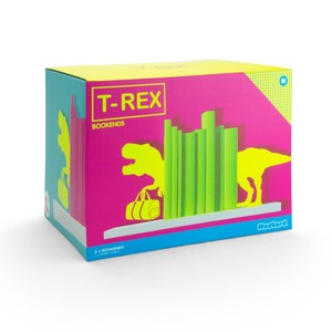 Mustard T-Rex Bookends