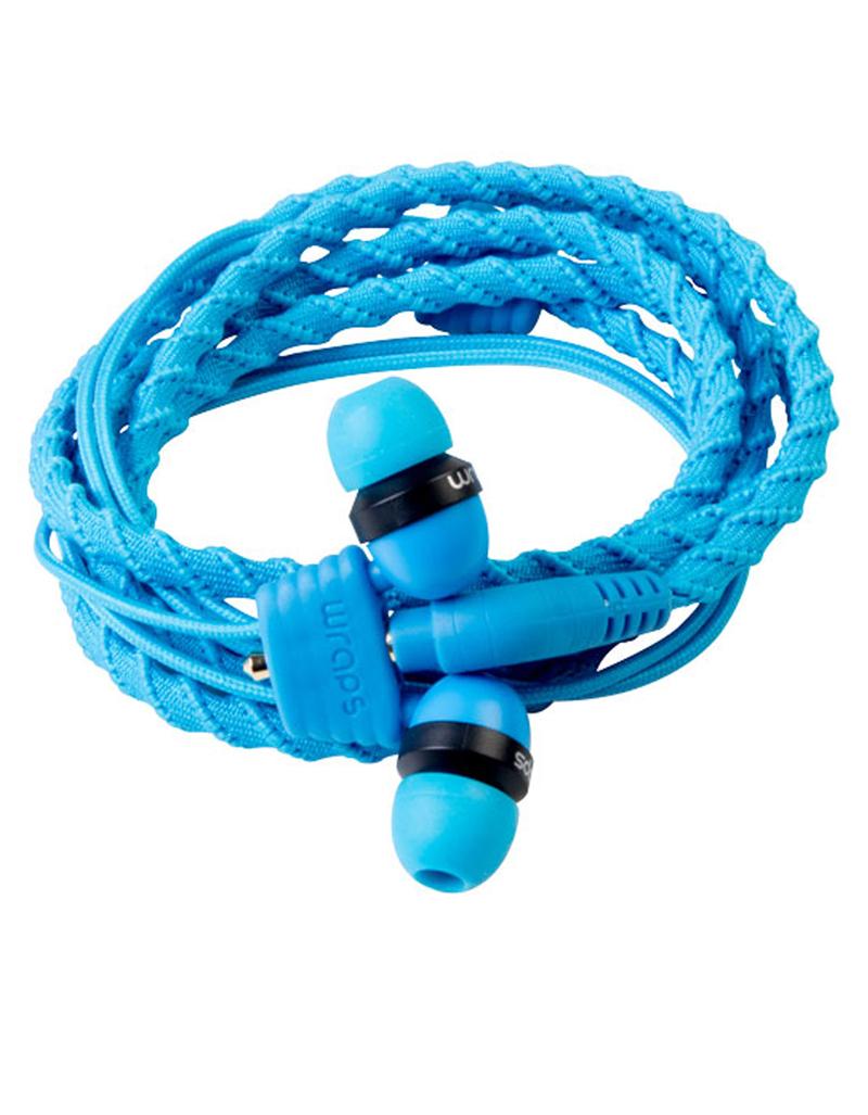 Wraps Classic Cloth Blue Earphones In Ear Heapphones