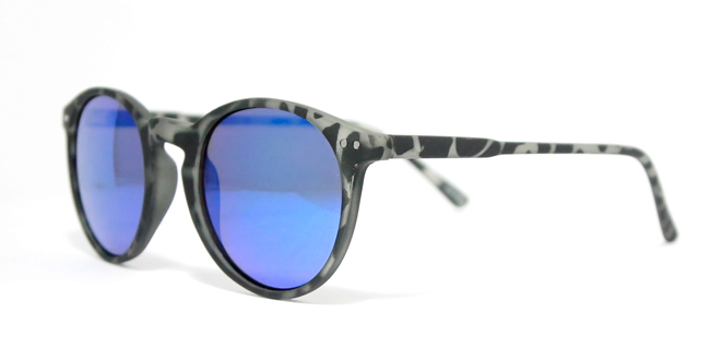 f11d16410405 Eleven Miami  Fashion Sunglasses Round Frame Unisex Black  Black Tortoise  Blue Tortoise