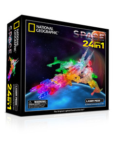 Laser Pegs National Geographic 24 In 1 Space Building Set