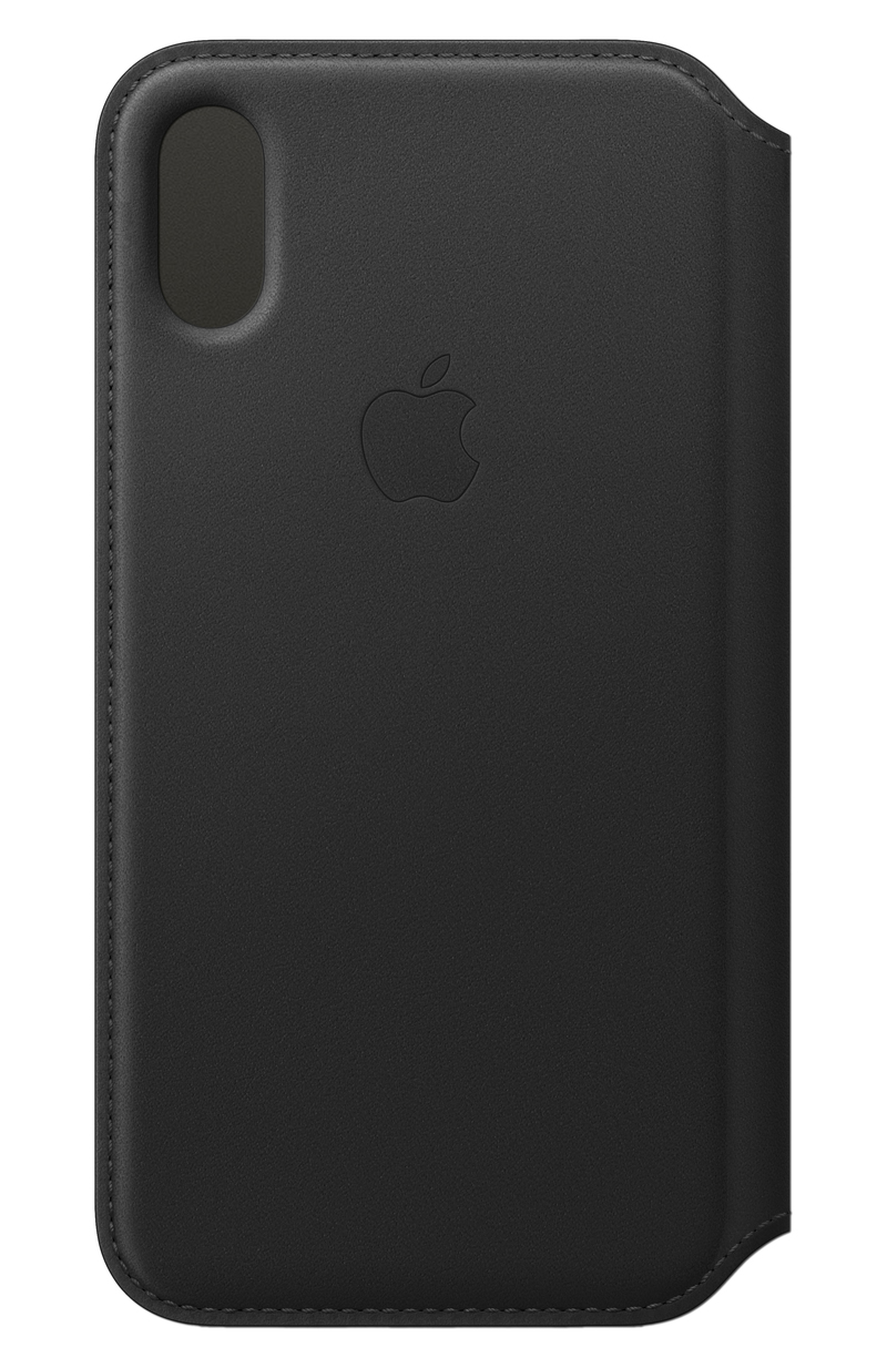 check out 2f696 1e4dc Apple Leather Folio Black for iPhone XS