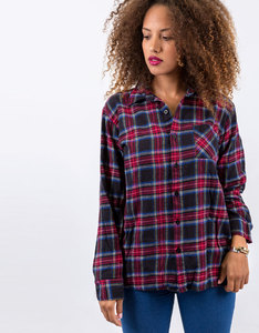 I Hate Everyone Custom Flanel Black/Red Woven Shirt