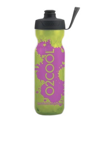 O2Cool Green/Purple Splash Arcticsqueeze Surelock Top 590ml Water Bottle