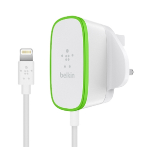 Belkin 2.4A Wall Charger White with Lightning Cable