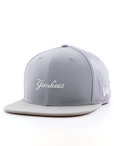 New Era MLB Nylon Mix Wordmark NY Yankees Gray Cap